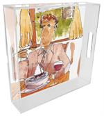 T1317 - Simple Fare Lucite Tray by Bill Kelley