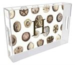 T1403-Sand Dollars Personalized Lucite Tray