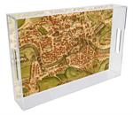 T1482-Antique Rome Map Personalized Personalized Tray