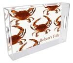 T1518-Cooked Crabs Lucite Tray