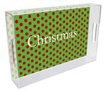 T1712- Christmas Big Dot Lucite Tray
