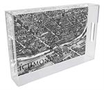 T2637-Richmond, Virginia  Antique Map Lucite Tray