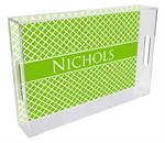 T2856- Chelsea Lime Personalized Lucite Tray