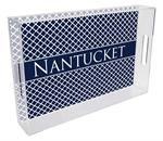 T2857 - Chelsea Navy Personalized Lucite Tray