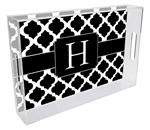 T2858 - Black Chelsea Grande Personalized Lucite Tray