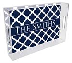 T2859 - Chelsea Grande Navy Personalized Lucite Tray