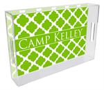 T2862 - Lime Chelsea Grande  Personalized Lucite Tray