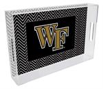 T3604-Wake Forest University Lucite Tray
