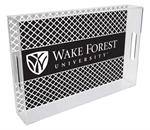 T3607-Wake Forest University Lucite Tray