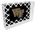 T3609-Wake Forest University Lucite Tray