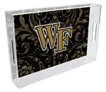 T3618-Wake Forest University Lucite Tray