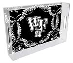 T3619-Wake Forest University Lucite Tray