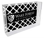 T3620-Wake Forest University Lucite Tray