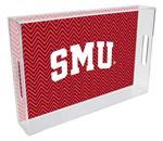 T4512-SMU/Southern Methodist University Lucite Tray