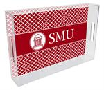 T4513-SMU/Southern Methodist University Lucite Tray