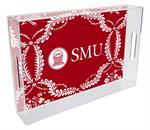 T4515-SMU/Southern Methodist University Lucite Tray