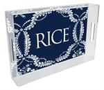T4616-Rice University Lucite Tray