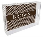 T5116-Brown  University Tray