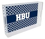 T5914-Houston Baptist University Lucite Tray
