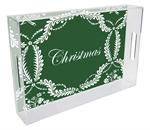 T806-Green Provencial Personalized Lucite Tray