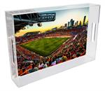 T8677- Houston Dynamos BBVA Compass Stadium Lucite Tray