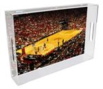 T8678- Houston Rockets Toyota Center Stadium Lucite Tray