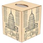 TB1020-Capital Blueprint Tissue Box Cover