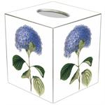 TB10-Blue Hydrangea Tissue Box Cover