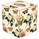 TB1118 - Floral 1 on Ivory Tissue Box Cover