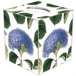 TB1207 - Blue Hydrangea with Leaves Tissue Box Cover