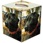 TB121-Black Lab Dog Tissue Box Cover