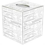 TB1214-Algebra Tissue Box Cover