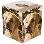TB122-Yellow Lab Dog Tissue Box Cover