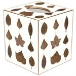 TB1252 - Brown Leaves Tissue Box Cover