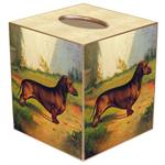 TB128 - Red Dachshund Tissue - Female Box Cover
