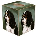 TB1296-King Charles Spainel Tissue Box Cover