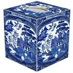 TB1386-Blue Willow Tissue Box Cover