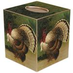 TB139- ANtique Thanksgiving Turkey Tissue Box Cover