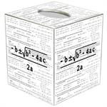 TB1390-Quadratic Equation Tissue Box Cover
