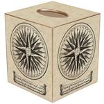 TB1391 Mariner's Compass  Tissue Box Cover
