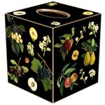 TB1412 - Fruit on Black Tissue Box Cover