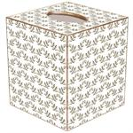 TB1429 - Brown Leaf Print Tissue Box Cover