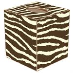 TB1448 - Brown Zebra Tissue Box Cover