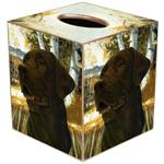 TB145 - Chocolate Lab Tissue Box Cover