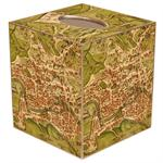 TB1482- Antique Map of Rome Tissue  Box Cover