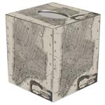 TB1514- New York City Antique Map Tissue Box Cover