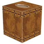 TB1537 Inlaid Wood Tissue Box Cover