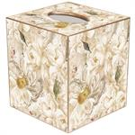 TB1547-White Roses Tissue Box Cover
