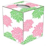 TB1563-Mod Mum Green and Pink Tissue Box Cover