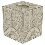 TB1589- New Orleans Antique Map Tissue Box Cover